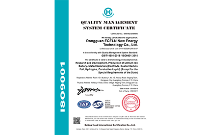 ECELEN QUALITY MANAGEMENT SYSTEM CERTIFICATE